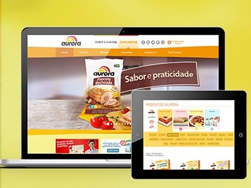 Desenvolvimento de Sites, TV corporativa, e-mail marketing, hotsites e promoções - Aurora Alimentos